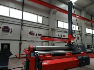 New Rmt 10 2 X 5 8 Hydraulic 4 Roll Plate Roll With Cnc Control
