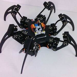 1set Black Six Legs Alloy 3dof Hexapod Spider Robot Frame Kit Diy For Arduino