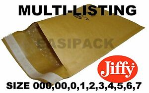 Genuine Jiffy Padded Envelopes Airkraft Bags all Sizes Gold