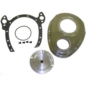Cloyes Engine Timing Cover 9 221 Quick Button 2pc Satin Cast Aluminum For Sbc