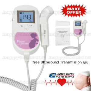 Contec New Fetal Doppler Baby Heart Monitor For Pregnant Woman free Gel usps