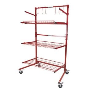 New Innovative Tools B Series Mobile Autobody Parts Storage Rack Shelf Cart