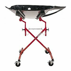 New Innovative Tools Autobody Mobile Rolling X Cross Windshield Door Stand Dolly