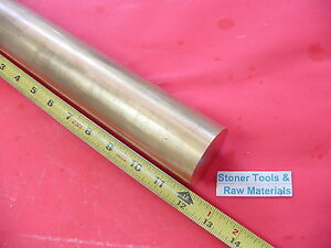 5 Pieces 2 C360 Brass Round Rod 12 Long Solid 2 0 Diameter H02 Lathe Bar Stock