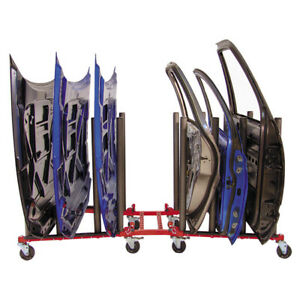 New Innovative Tools Autobody Mobile Door Hood Panel Windshield Cart Dolly Stand