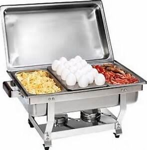 1 3 Size Chafer Pan 3 Pack Catering Hotel Chafing Dish One Third Size Pans