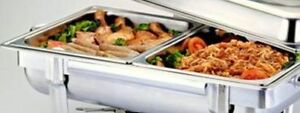 1 2 Size Chafer Pan 4 Pack Catering Hotel Chafing Dish Half Pans