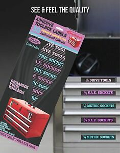Ladies Edition Adhesive Toolbox Labels Organize Wrenches Tools Fast Easy