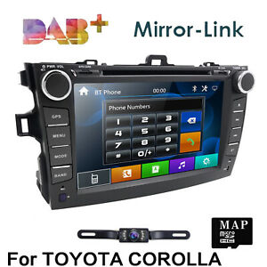 For Toyota Corolla 2007 2008 2009 2010 Car Dvd Stereo Gps Navigation Player cam
