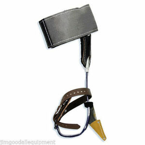 Tree Climbing Spike Set Klein Steel Spurs w Steel Cushion Wrap Pads