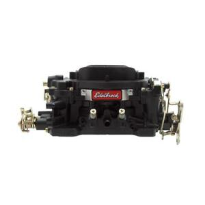 Edelbrock Carburetor 14053 Performer 600 Cfm 4 Barrel Vacuum Secondary Black
