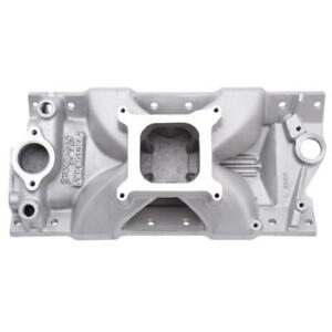 Edelbrock Intake Manifold 2999 Victor Jr Single Plane Satin Aluminum For Sbc