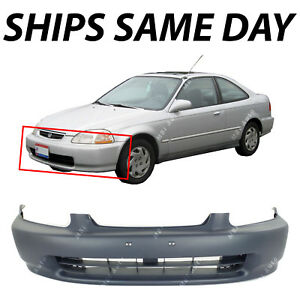 New Front Bumper Cover Fascia Primered For 1996 1998 Honda Civic Coupe Sedan