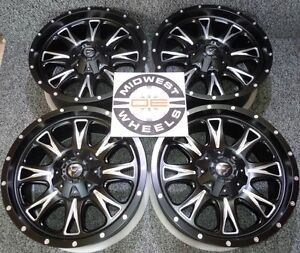 Silverado 1500 6 Lug Fuel Throttle Wheels Rims 20 20x9 6x139 7 D51320909857