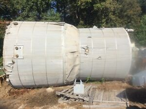 13 000 Gallon Stainless Steel Vertical 304 Mixing Tank W Lightnen Mixer