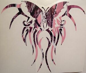 Pink Camo Butterfly Tribal New Truck Vinyl Decal 5 Muddy Cowgirl Tattoo Girl