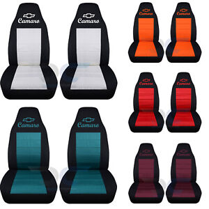 Fits 1982 2002 Chevrolet Camaro Front Set Car Seat Covers Color Choice Iroc Z