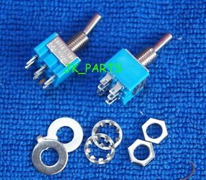 10pcs New Mini Mts 203 6 pin Dpdt On off on 6a 125vac Toggle Switches 3 Position
