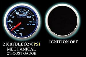 Prosport 52mm Mechanical Boost Gauge Blue White