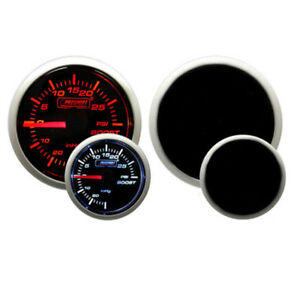 Prosport 52mm Electronic Universal Turbo Boost Gauge amber White