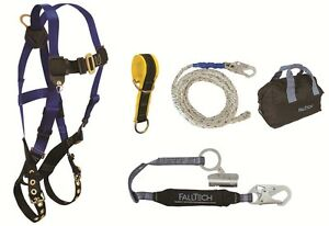 Falltech 9103jk Fall Protection Complete Basic Roofers Kit