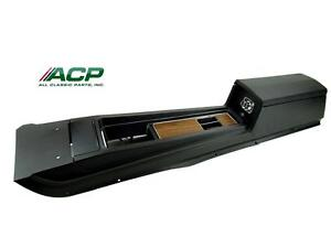 1969 Mustang Console Assembly New W Standard Transmission Black W Wood Grain