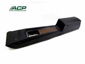 1970 Mustang Console Assembly New W Standard Transmission Black W Woodgrain