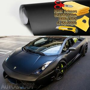 72 X 60 Matte Flat Black Vinyl Film Wrap Sticker Decal Bubble Free Air Release