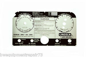 Lincoln Sa 200 Blackface Welder Replacement Faceplate L 5750 Bw121