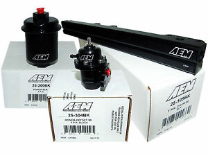 Aem High Volume Fuel Rail Adj Pressure Regulator Filter Honda D16y8