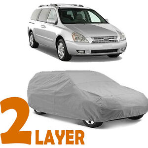 True 2 Layers Gray Fitted Van Cover Outdoor Water Sun Resistant For Kia Sedona