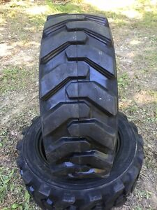 2 27x8 50 15 Hd Skid Steer Tires 27 8 50 15 solideal Xtra Wall for Case