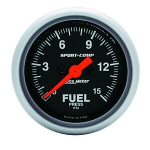 Auto Meter Fuel Pressure Gauge 3361 Sport comp 0 To 15 Psi 2 1 16 Electrical