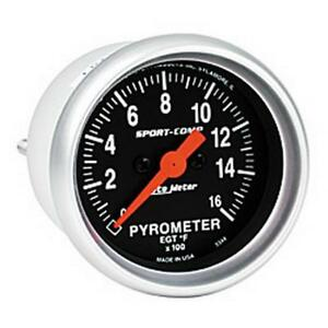 Auto Meter Boost pyrometer Gauge 3344 Sport comp Kit 1600 f 2 1 16 Electrical