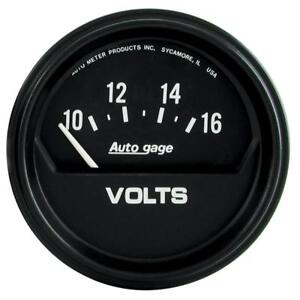 Auto Meter Voltmeter Gauge 2319 Auto Gage 10 To 16 Volts 2 5 8 Electrical