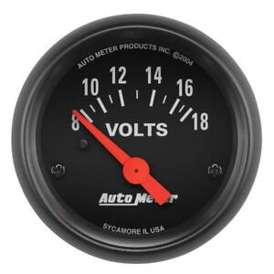 Auto Meter Voltmeter Gauge 2645 Z series 8 To 18 Volts 2 1 16 Electrical