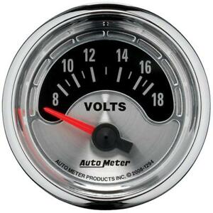 Auto Meter Voltmeter Gauge 1294 American Muscle 8 18 Volts 2 1 16 Electrical