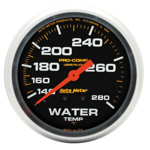 Auto Meter Coolant Temperature Gauge 5431 Pro comp 140 To 280 f 2 5 8