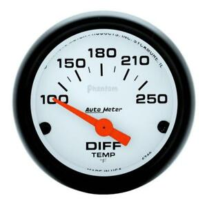 Auto Meter Differential Temperature Gauge 5749 Phantom 100 To 250 F 2 1 16