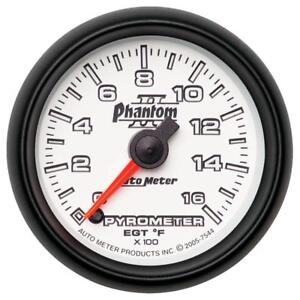 Auto Meter Boost pyrometer Gauge 7544 Phantom Ii Kit 1600 f 2 1 16 Electrical