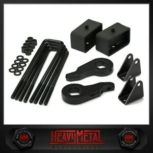 00 10 Silverado Sierra 2500hd 3500hd 3 Front 3 Rear Full Lift Kit 8lug