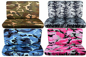Cc Front Bench Or Rear Bench Car Seat Covers Camouflage leopard tiger choose