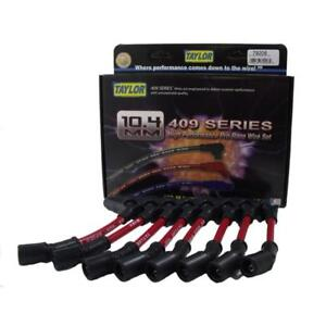 Taylor Spark Plug Wire Set 79206 409 Pro Race 10 4mm Red Oe For Chevy V8