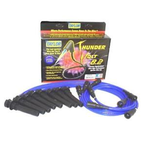 Taylor Spark Plug Wire Set 82626 Thundervolt 8 2mm Blue Oe For Dodge V8