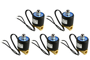5 Lot 1 4 Npt Electric Brass Solenoid Air Water Valve Nc 110v Ac Pneumatic