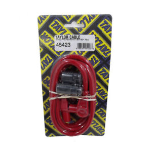 Taylor Single Lead Spark Plug Wire 45423 8mm Red Spiral Core 90 180