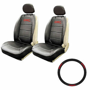 New Gmc Elite Style Car Truck Front Seat Covers Steering Wheel Cover 5pcs Combo