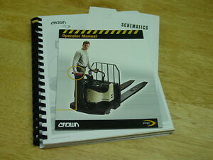 Crown Pe 4000 Series Forklift Service Parts And Operator Manuals 2003 New