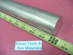 1 1 2 C360 Brass Round Rod 24 Long Solid 1 50 Od H02 Lathe Bar Stock