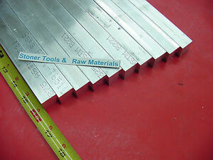 10 Pieces 3 4 x 3 4 Aluminum 6061 Square Flat Bar 16 Long T6511 New Mill Stock